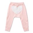 Floral Pink Heart Pants - Sapling Organic Baby Clothes