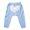 Ocean Blue Heart Pants - Sapling Organic Baby Clothes