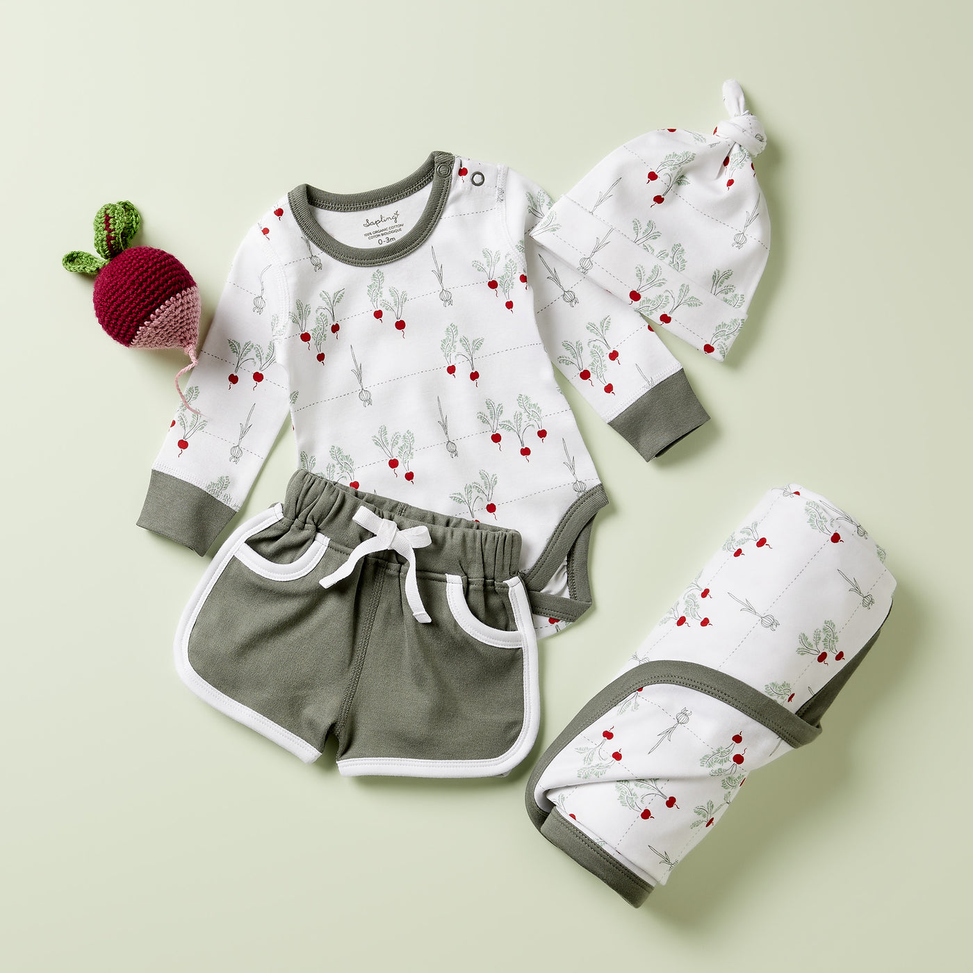 Radish Long Sleeve Bodysuit