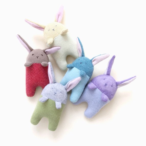 Baby Bunny Rattle - Sapling Organic Baby Clothes