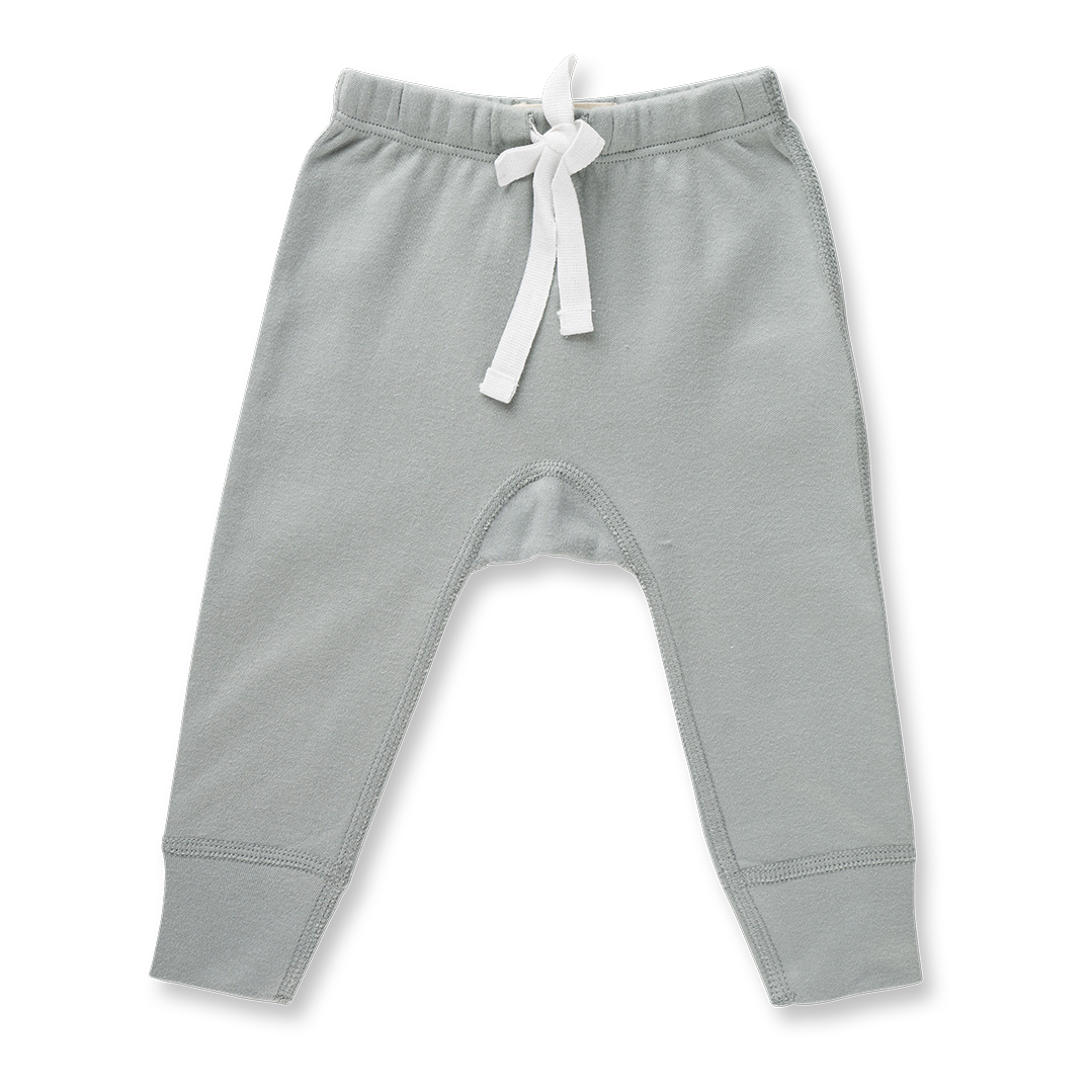Neutral Grey Pants - NO HEART - Sapling Organic Baby Clothes