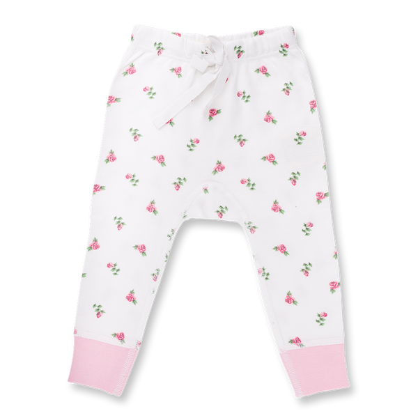 Vintage Rose Pants - Sapling Organic Baby Clothes