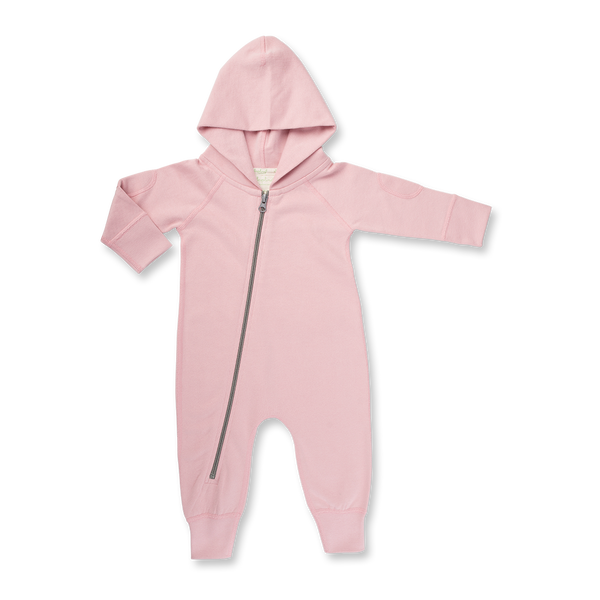 Dusk Pink Winter Zipsuit - Sapling Organic Baby Clothes