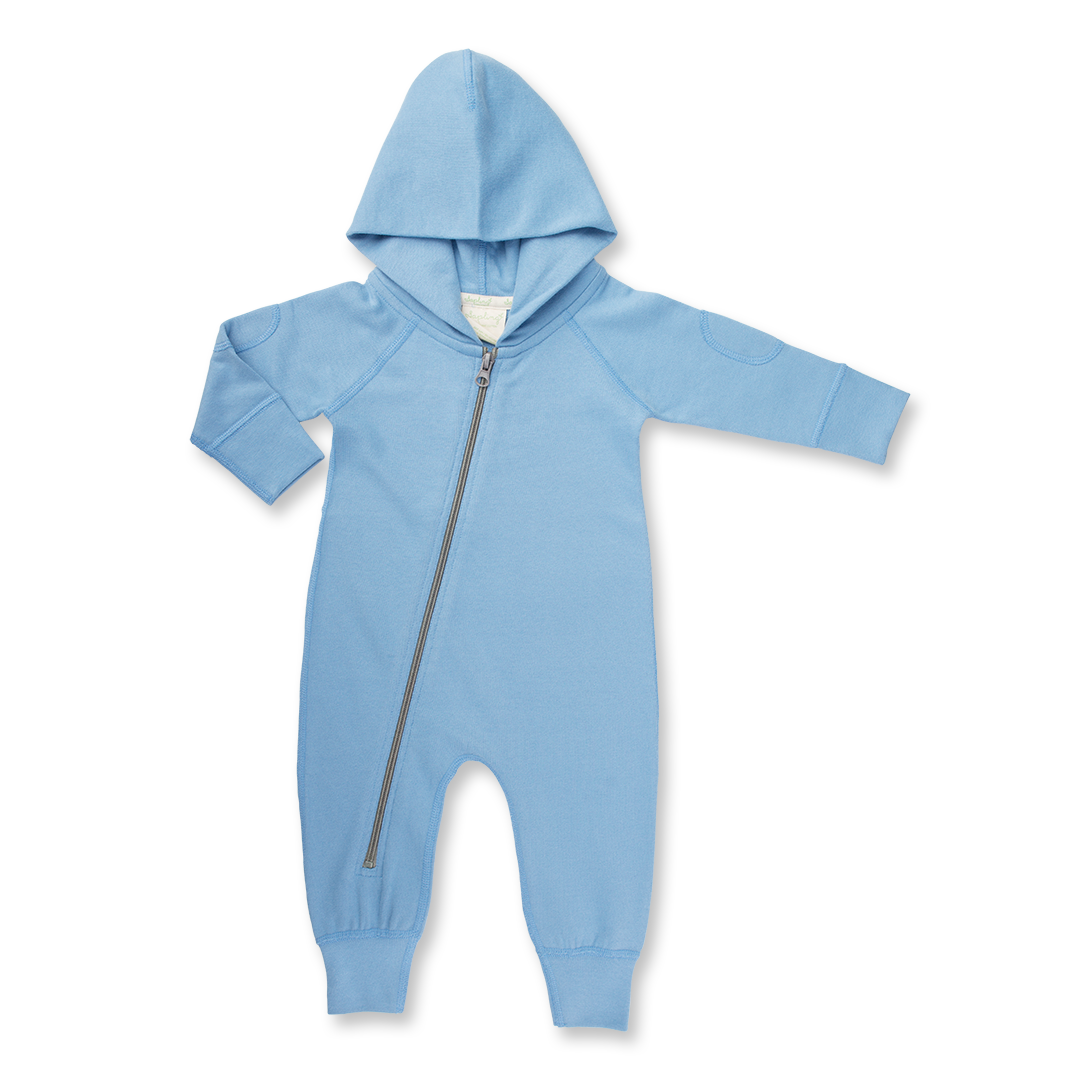 Dusk Blue Winter Zipsuit - Sapling Organic Baby Clothes