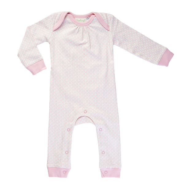 Dusty Pink Romper - Sapling Organic Baby Clothes