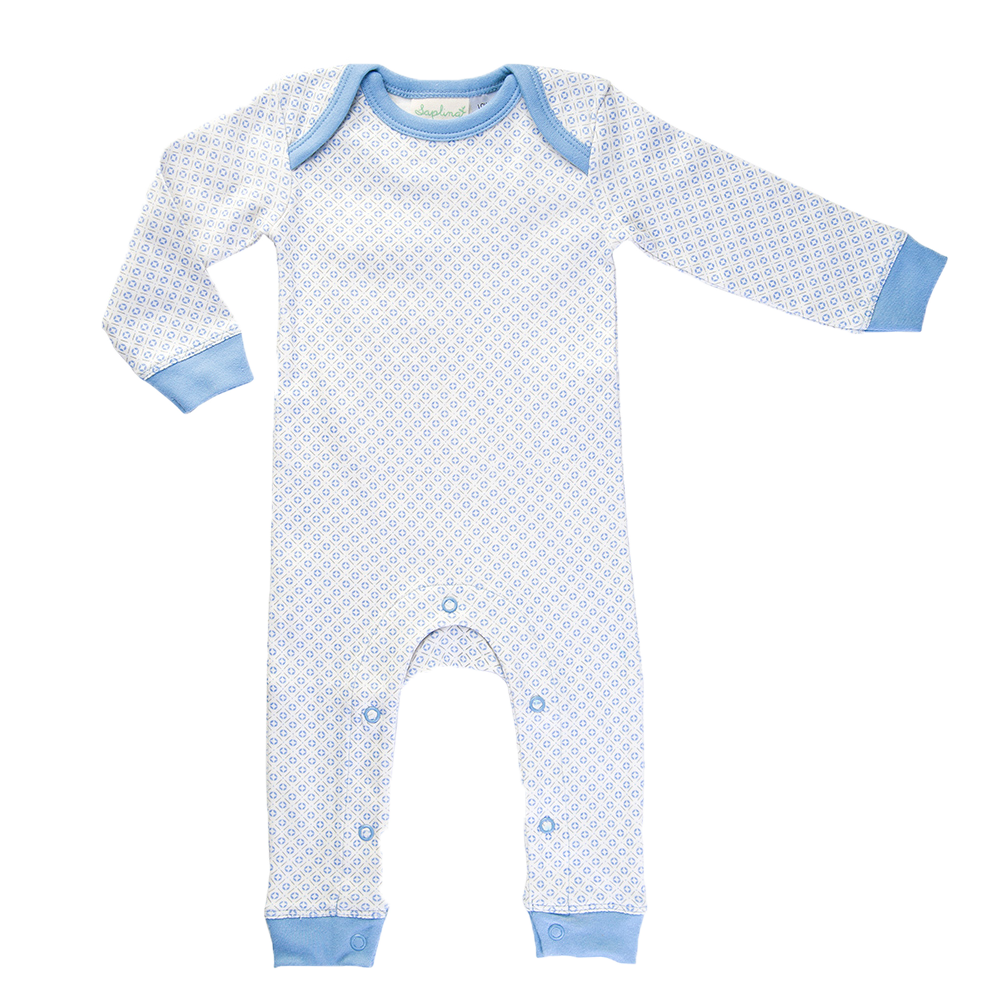 Little Boy Blue Romper - Sapling Organic Baby Clothes