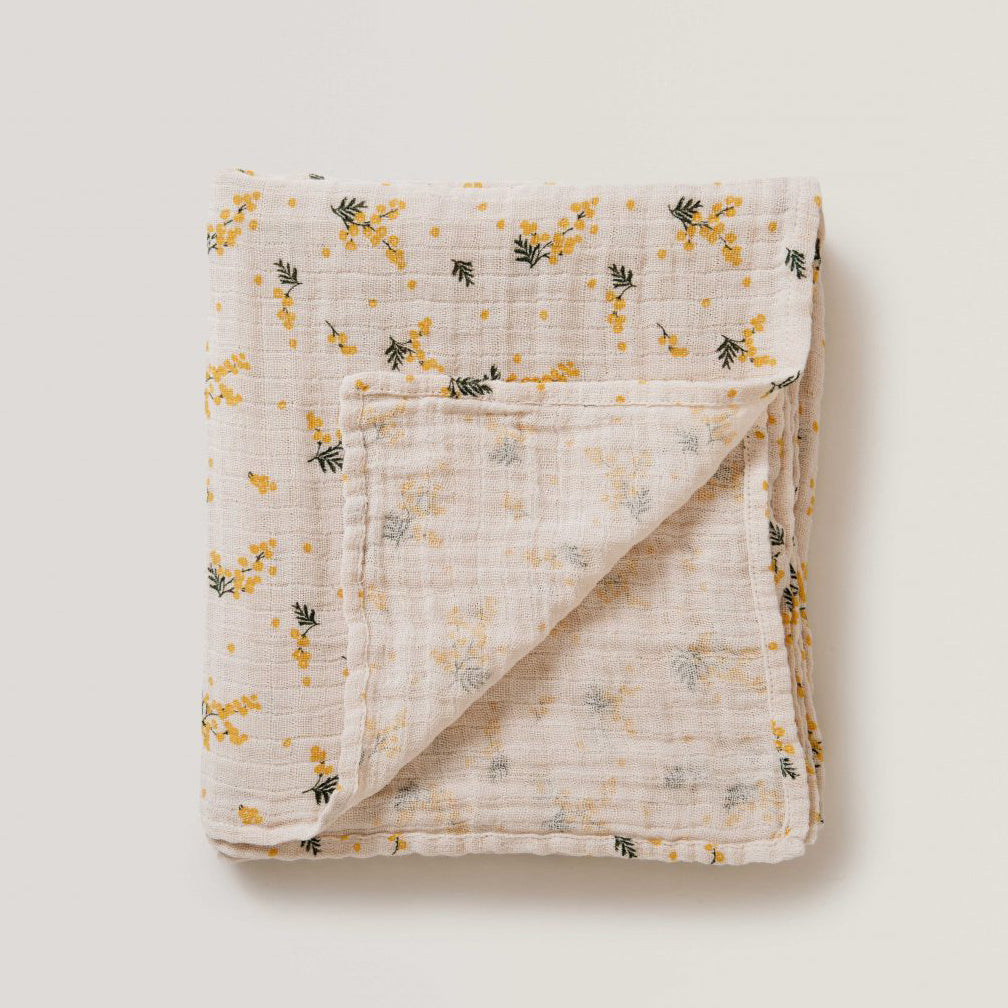 Mimosa Muslin Swaddle - Garbo & Friends - Sapling Organic Baby Clothes