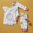 Berry Buds Flutter Sleeve Tee - Sapling Organic Baby Clothes