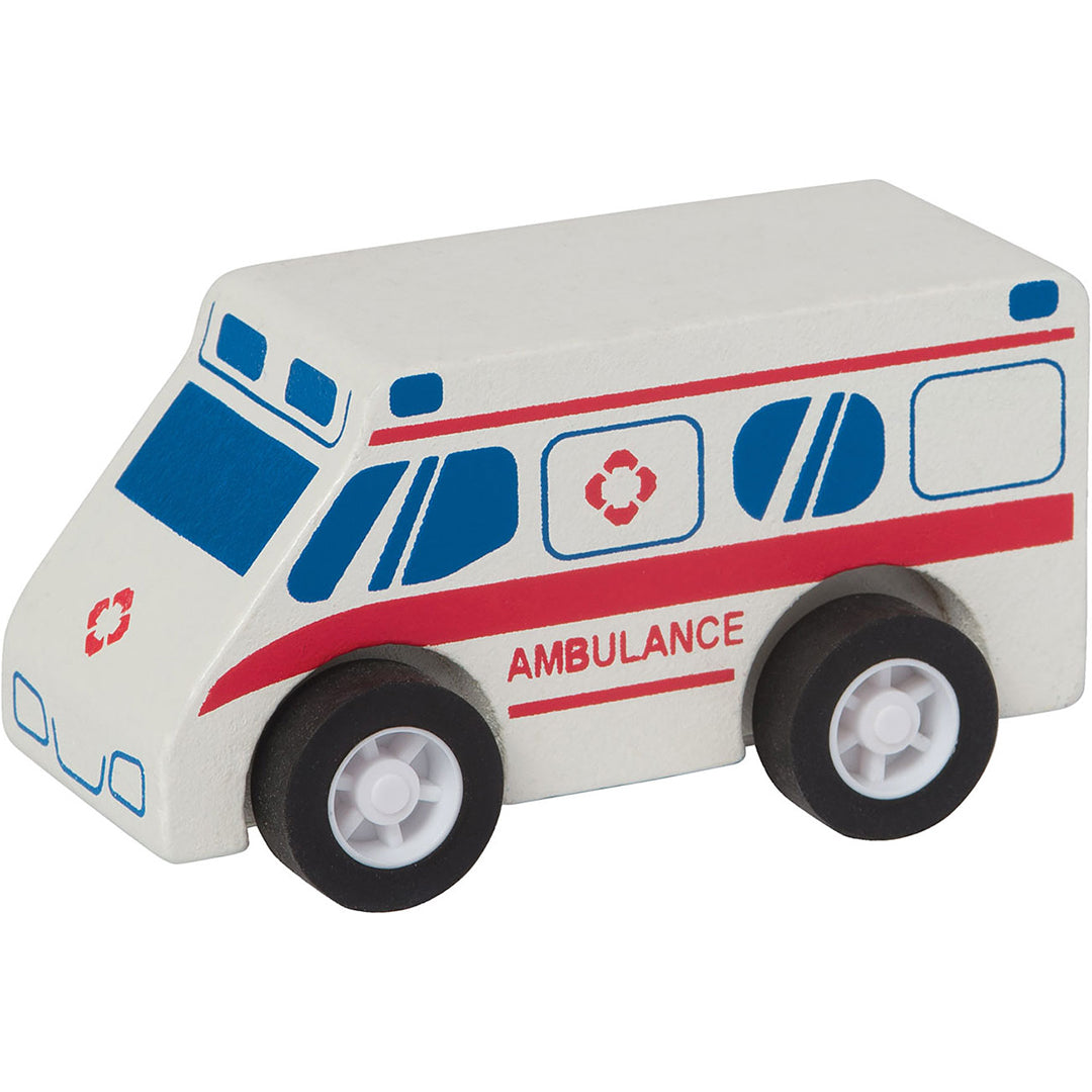 Pull-Back Wooden Ambulance - Sapling Organic Baby Clothes