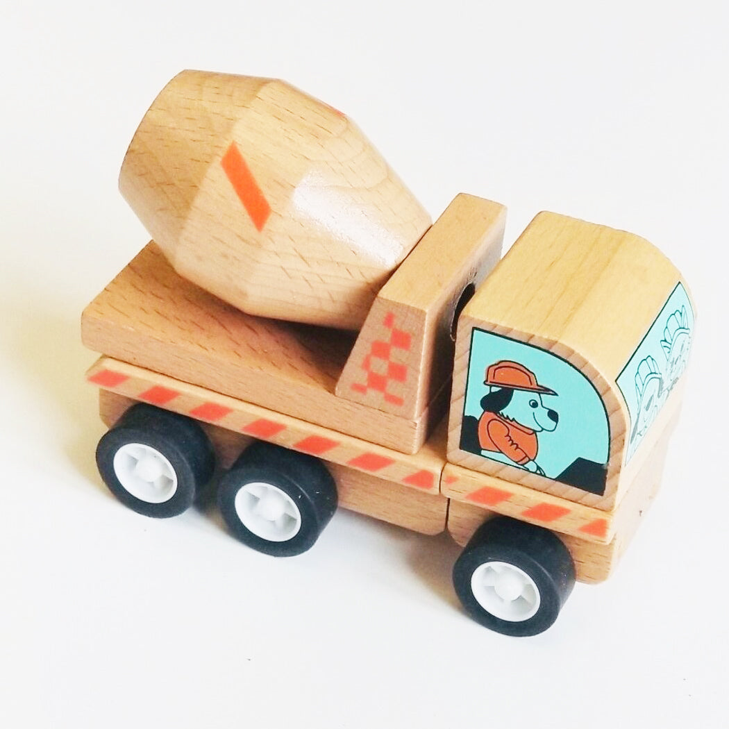 Wooden Cement Truck - Sapling Organic Baby Clothes