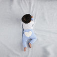 Little Boy Blue Heart Pants - Sapling Organic Baby Clothes