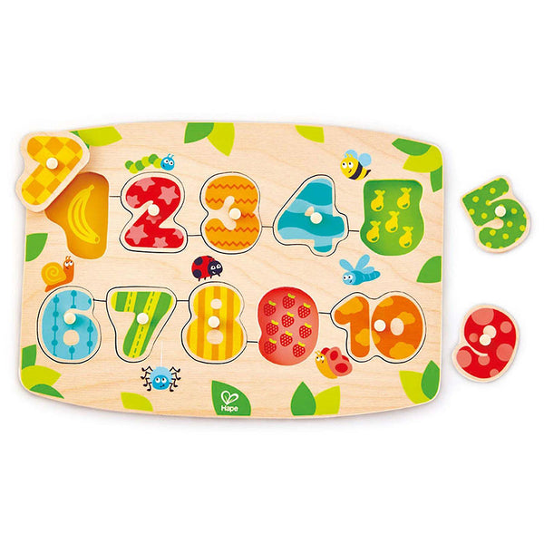 Number Peg Puzzle - Sapling Organic Baby Clothes