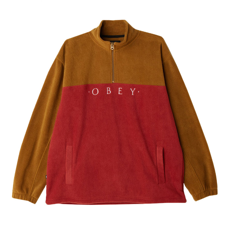 Obey Men's Channel Mock Pullover Fleece FA19