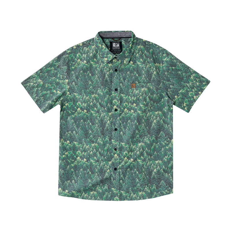 Hippy Tree Men's Spruce S/S Woven Button Shirt