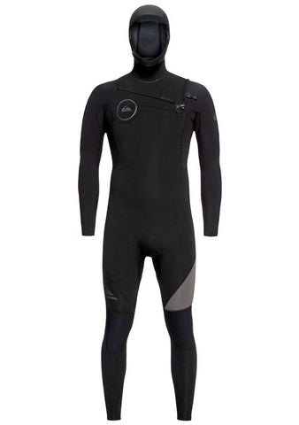 Quiksilver 4/3 Syncro Chest Zip Hooded Wetsuit