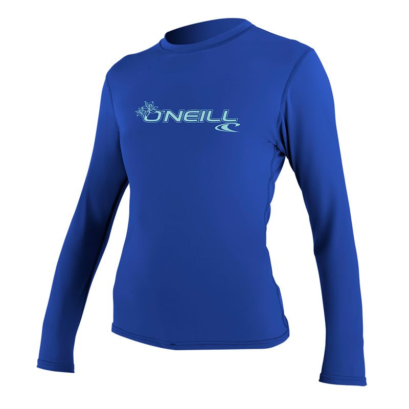 O'Neill Women's Basic Skins Long Sleeve Surfing Rashguard SP20
