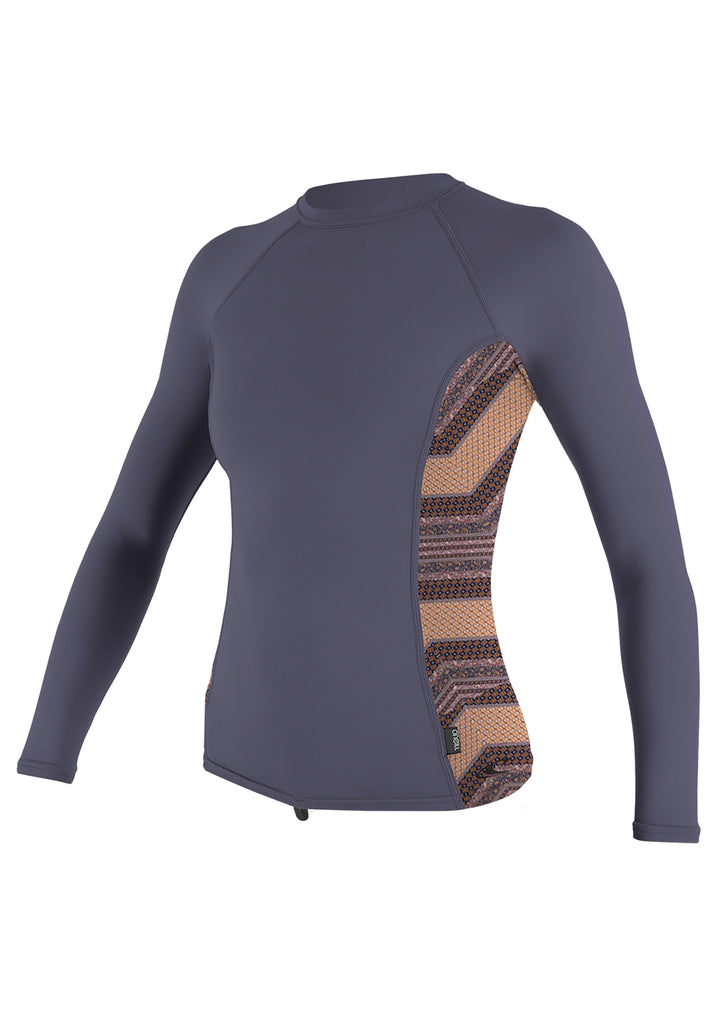 O'Neill Women's Side Print L/S Rash Guard FA19