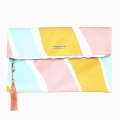 Pura Vida Stripes Not Stripes Clutch