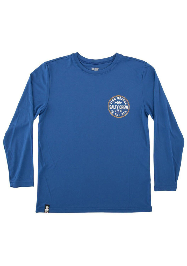 Salty Crew Boy's Twin Fin Tech L/S Tee