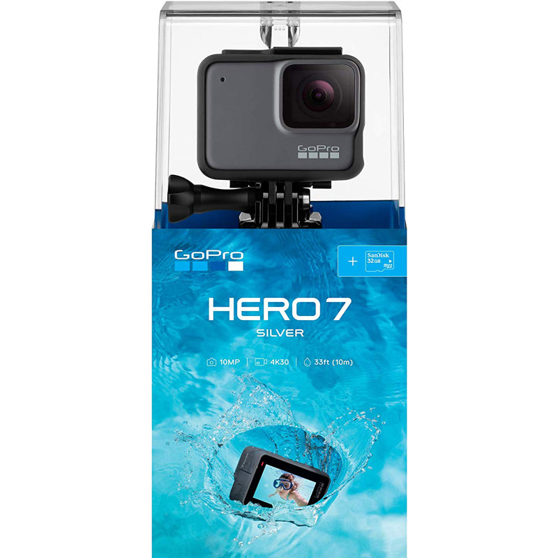 Go Pro Hero 7 Silver Edition SD Card Bundle