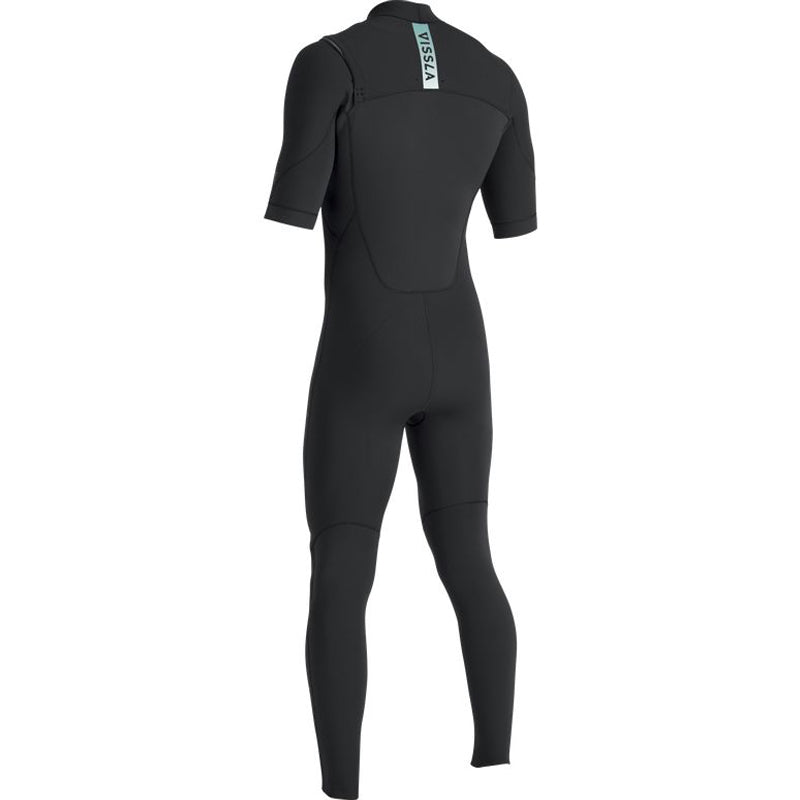 Vissla Men's 7 Seas 2/2mm S/S Chest Zip Fullsuit Wetsuit FA19
