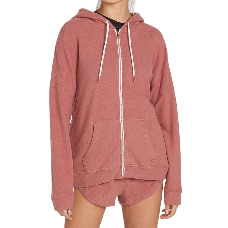 Volcom Women's Lived In Lounge Zip Up Hoodie