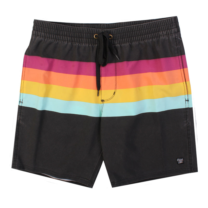 Black Sea Lined Up Stripe Boardshort