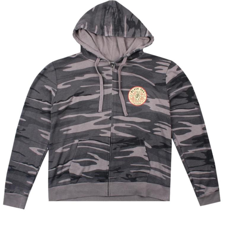 Black Sea Peace Core Zip-Up Hoodie
