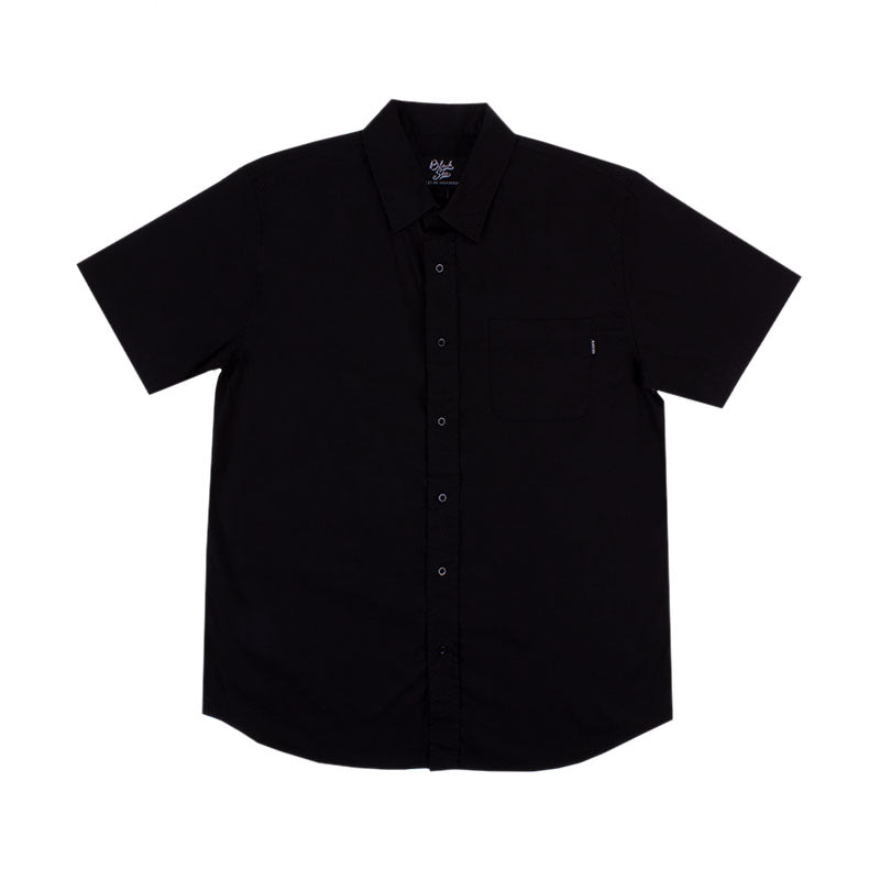 Black Sea Sundays Short Sleeve Button Up Pocket Shirt