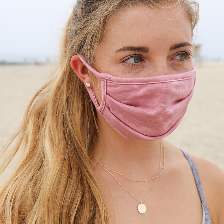 Unisex Comfy Face Mask in Pink