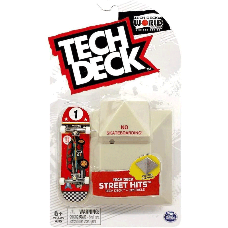 Chocolate Tech Deck Street Hits Skateboard W/ Obstacle