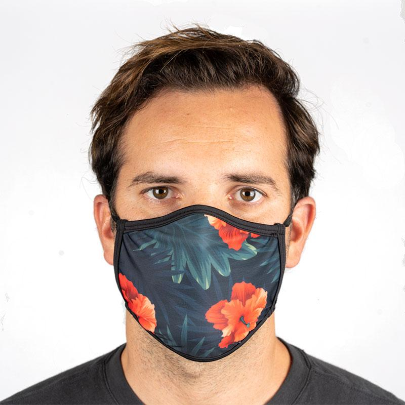 Unisex Everyday 'Green Tropical Floral' Face Mask