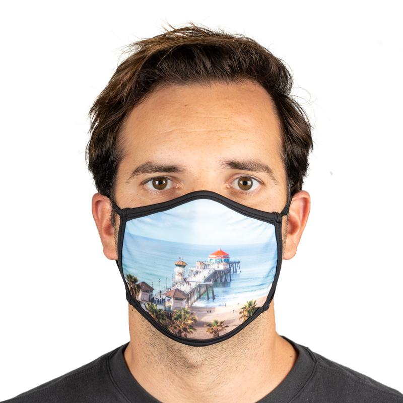 Unisex Everyday 'HB Pier' Face Mask