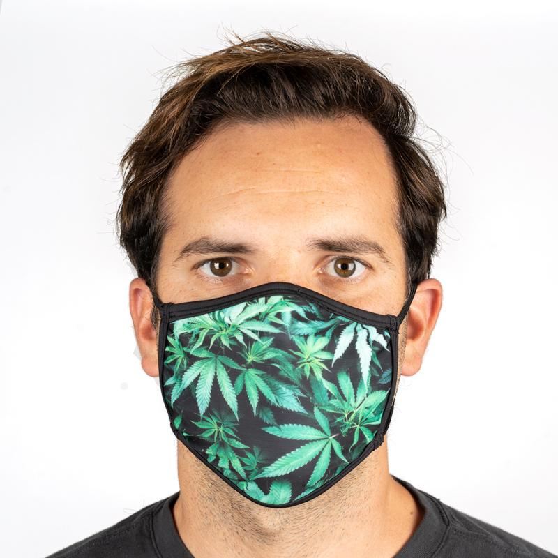 Unisex Everyday 'Green Leaves' Face Mask