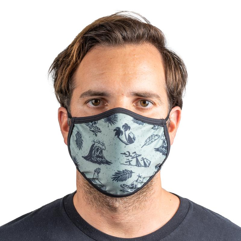 "Unisex Everyday ""Skull Island"" Face Mask"