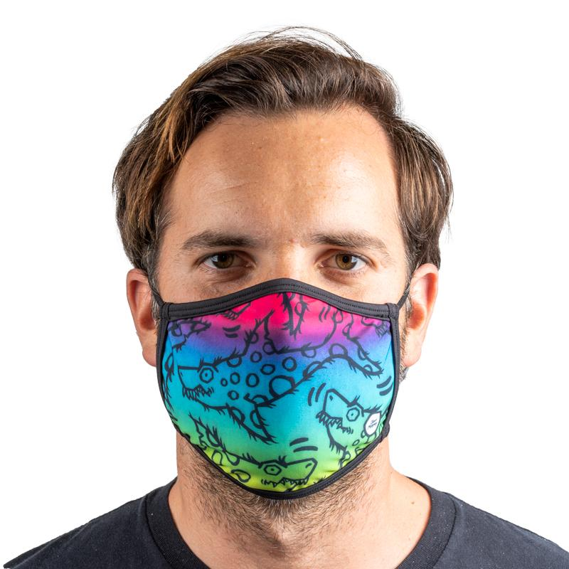 Unisex Everyday 'Rainbow Shark' Face Mask