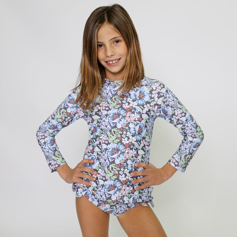 Girl's Emily Long Sleeve One Piece Swim Suit 2020