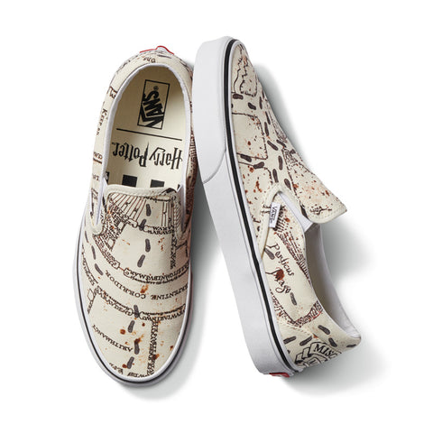 Vans x Harry Potter Marauders Map Classic Slip On Shoes