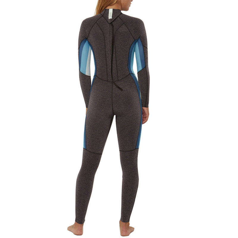 Sisstrevolution Women's 7 Seas 3/2mm Stripe Back Zip Fullsuit Wetsuit FA19