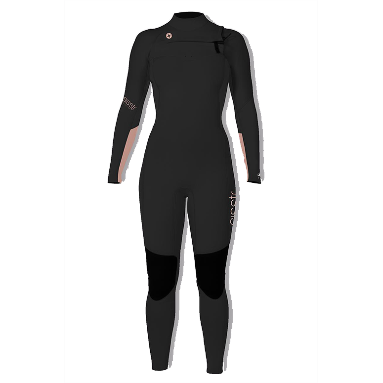 Girls 7 Seas 3/2mm Chest Zip Fullsuit