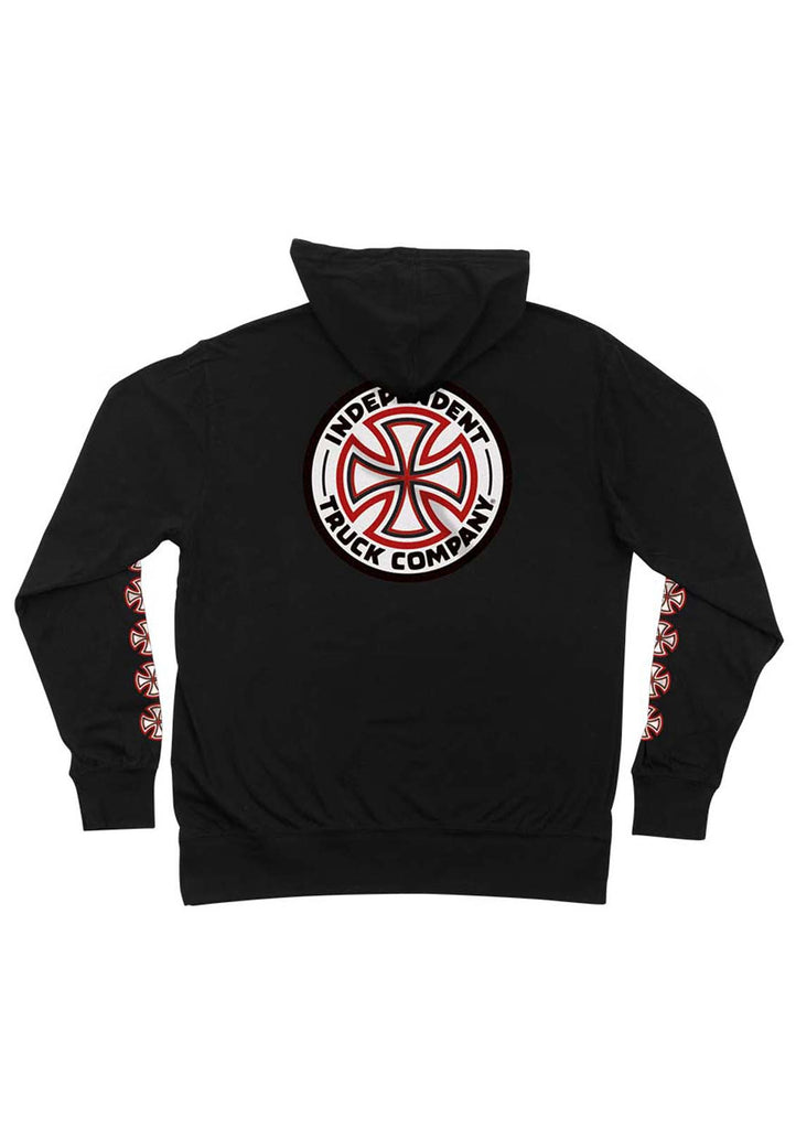 Red/White Cross Zip Up Hooded Sweatshirt
