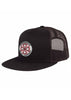 Red/White Cross High Profile Mesh Trucker Snapback Hat