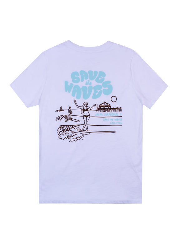 Jacks Surfboard Women Save The Waves Short Sleeve Tee