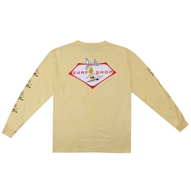 Jacks Surfboard Circa Sleeved Pigment Long Sleeve Tee