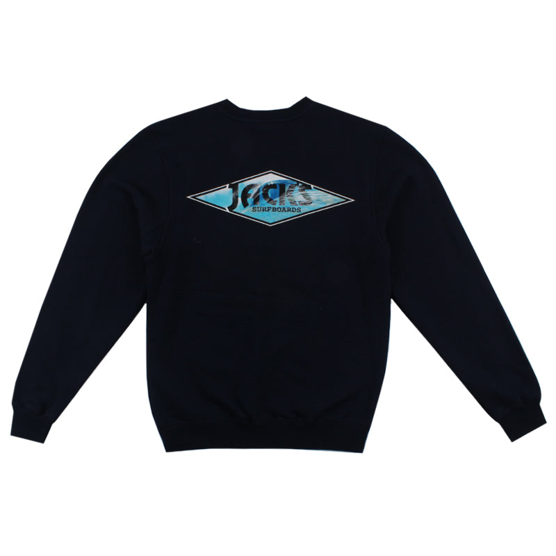 Jacks Surfboard Crystal Wave Crewneck Pullover