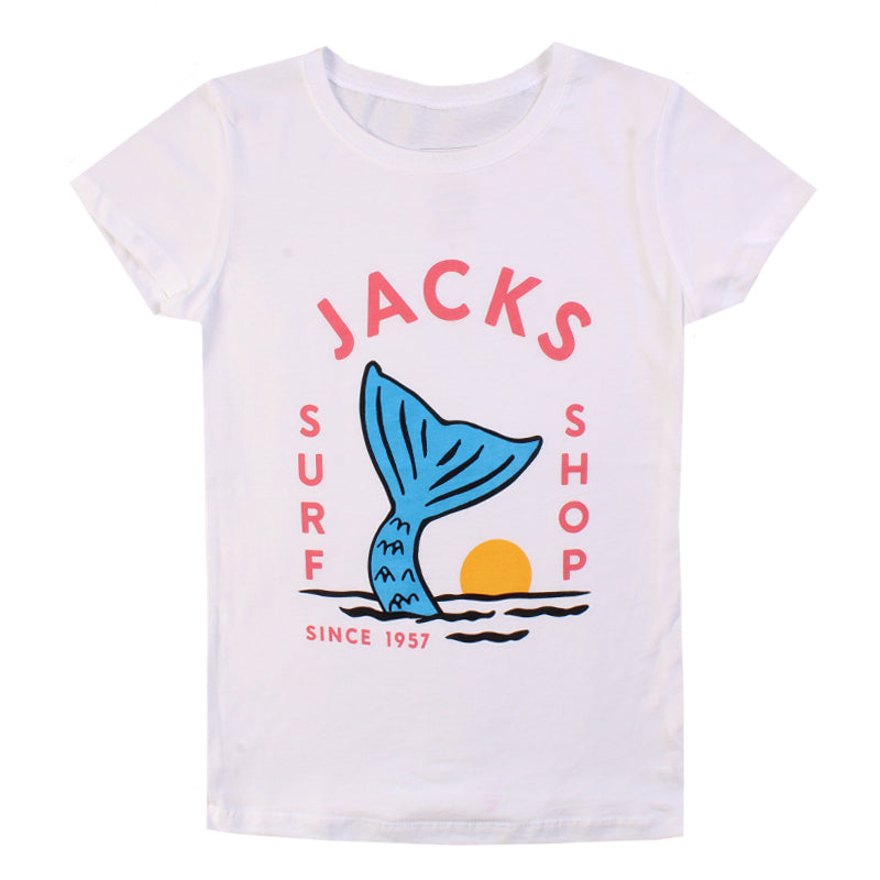 Jacks Surfboard Girls Strands Short Sleeve Tee