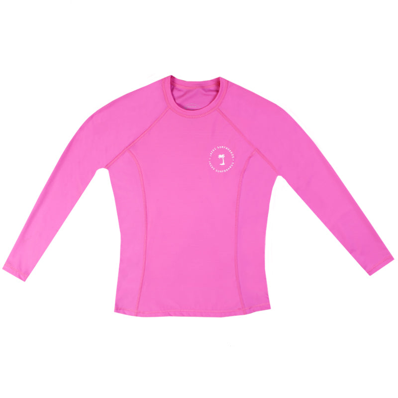 Jacks Surfboard Women Lone Palm Lycra Long Sleeve Rashguard