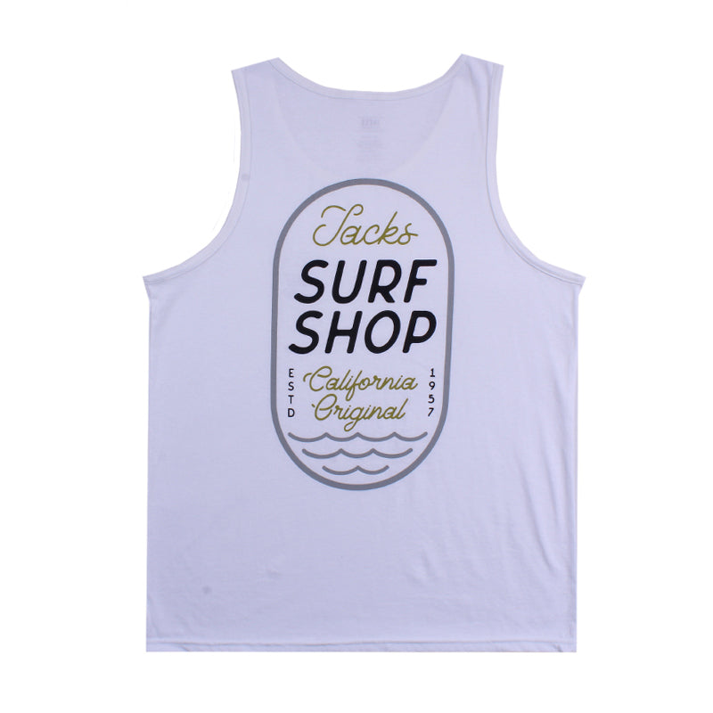 Jacks Surfboard Thumb Print Tank Top