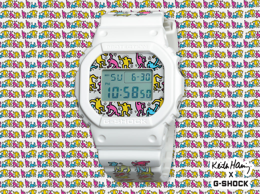 Keith Haring x G-Shock DW5600-7 Watch
