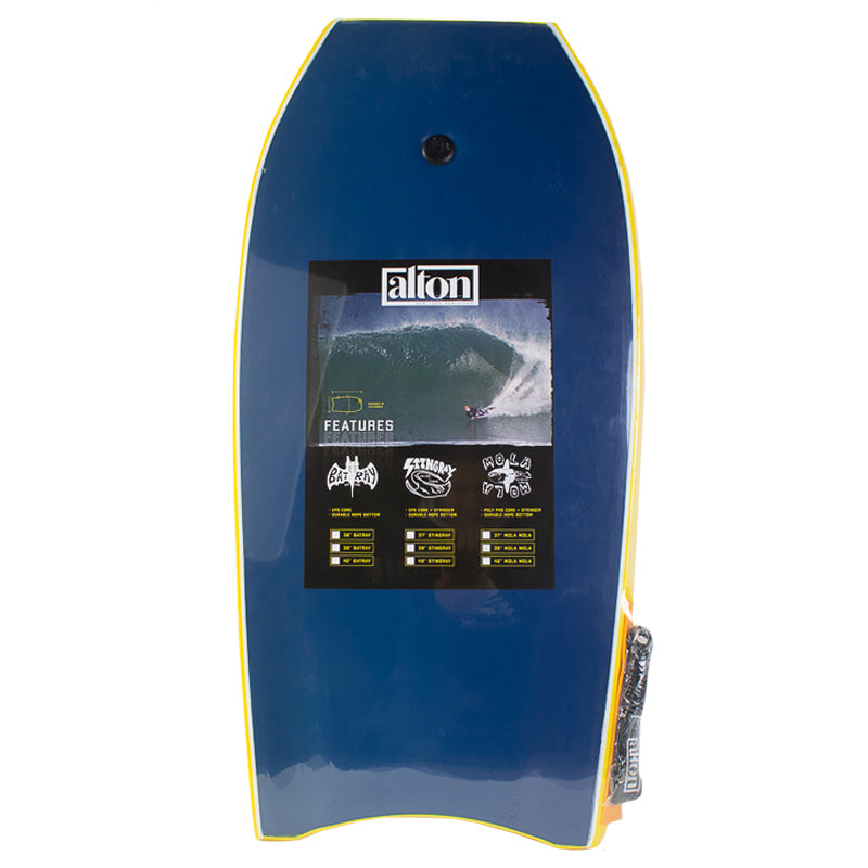 "Mola Mola 39"" Bodyboard Yellow"